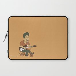 Muddy Waters riding a small bicycle Laptop Sleeve