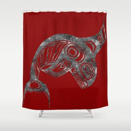 Smoke Keét Blood Shower Curtain