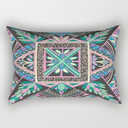 The Turquoise Mandela Returns! Rectangular Pillow