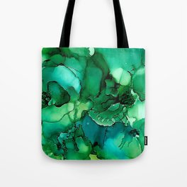 Into the Depths of Sea Green Mysteries Tote Bag