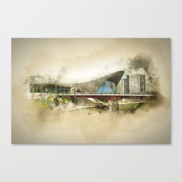 Zaha Hadid's 'The Wave' Olympic London Canvas Print