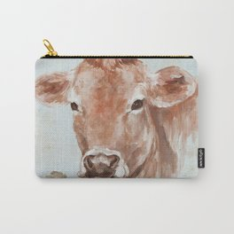 Cow with Rose by Debi Coules Carry-All Pouch