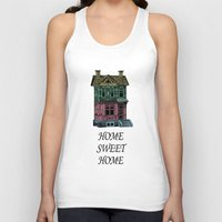 home sweet home Tank Tops featuring Home Sweet Home Quotes by &joy