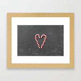 Heart sucre d'orge Framed Art Print