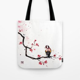 """The tiny wings """"The goldfinch"""" Tote Bag"""