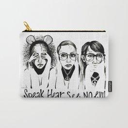 Speak, Hear, See No Evil STUK GIRLS Carry-All Pouch