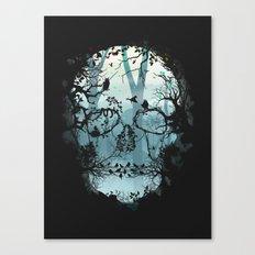 Dark Forest Skull Canvas Print