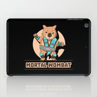 the mortal instruments iPad Cases featuring Mortal Wombat by Sombras Blancas Art & Design
