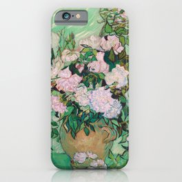 Pink Roses Van Gogh iPhone Case