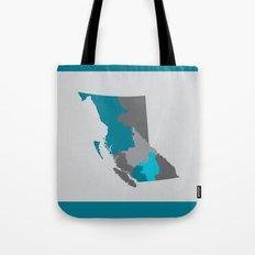 British Columbia Map Print Tote Bag