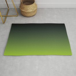 Ombre | Color Gradients | Gradient | Two Tone | Charcoal Grey | Lime Green | Rug
