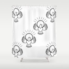 FreeBird Multi On White Shower Curtain