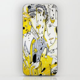 yellow people iPhone Skin