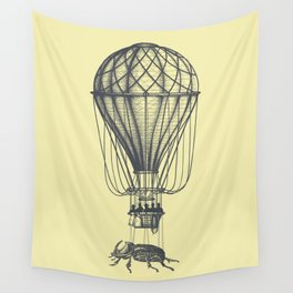 Discovery (grey on yellow) Wall Tapestry