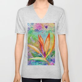 Bird of paradise i Unisex V-Neck