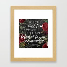 Jace Herondale Quote - The Mortal Instruments Framed Art Print
