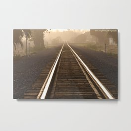 Setting Down The Tracks Metal Print