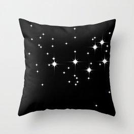 Mid Century Starry Night 2 Throw Pillow