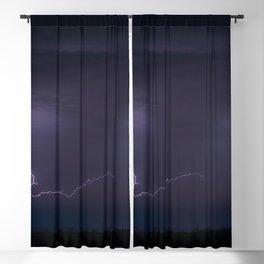 Summer Lightning Storm On The Prairie IV - Nature Landscape Blackout Curtain