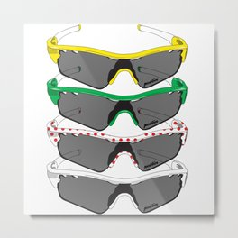 Tour de France Glasses Metal Print