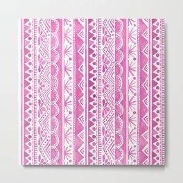 Watercolor tribal pattern Metal Print