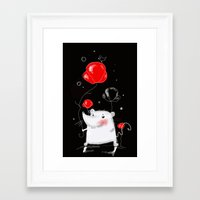 mouse Framed Art Prints featuring mouse  by Katja Main