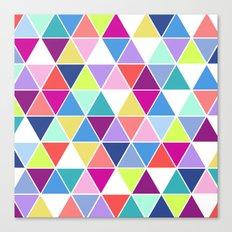 Multi Colour Triangle; Canvas Print