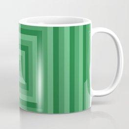 Green Squares Coffee Mug