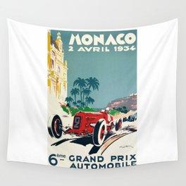 Grand Prix Monaco, 1934, vintage poster Wall Tapestry