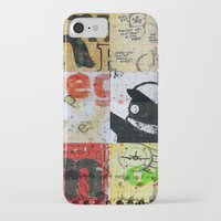 notebook iPhone & iPod Cases featuring SCHOOL NOTEBOOK by db Waterman