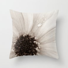Flower with droplets Throw Pillow