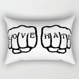 Love Hate Tattoo Rectangular Pillow