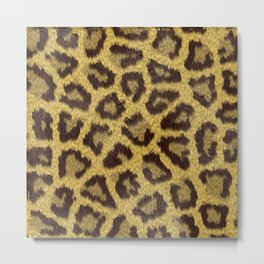 Leopard stains background Metal Print