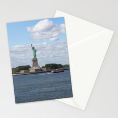 Lady Liberty at the harbor Stationery Cards