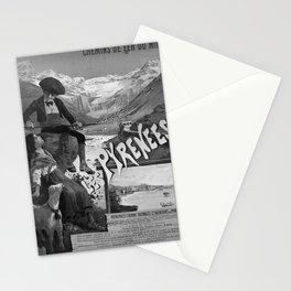 Retro Placard MIDI Les Pyrenees Stationery Cards