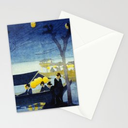 Wasen at Night - Vintage Japanese Art Stationery Cards
