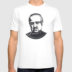 Marlon Brando White Mens Fitted Tee MEDIUM