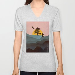Nature Love Of A Peacful Warrior Unisex V-Neck