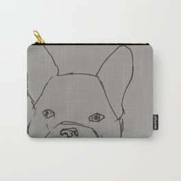 Sketched Frenchie (Grayscale) Carry-All Pouch