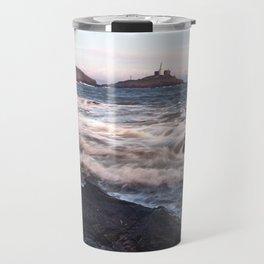 Mumbles lighthouse Gower Travel Mug