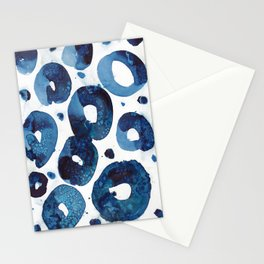 Connected blue circles Stationery Cards