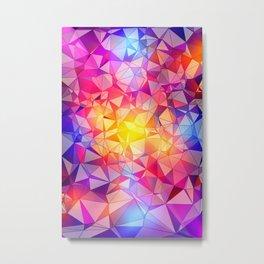 Polygonal Pattern Metal Print