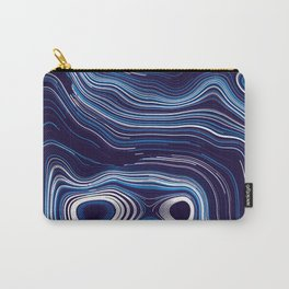 Abstract Colorful Line Wave Art Pattern Carry-All Pouch
