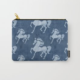 Blue Horses Pattern II Carry-All Pouch