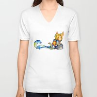 bow V-neck T-shirts featuring bow by noCek