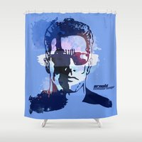 terminator Shower Curtains featuring Terminator by BIG Colours
