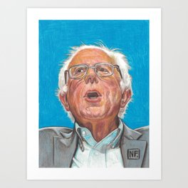Senator Bernie Sanders Candidate for the Democratic nomination for President of the United States Art Print
