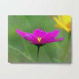 Pink Flower, DeepDream style Metal Print