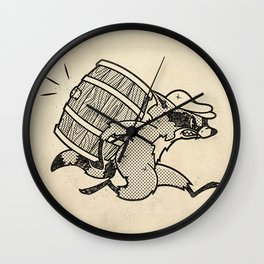 THE  WHISKEY SMUGGLER - vintage cartoon 80's Wall Clock