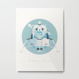 Apollo 11 Lunar Lander Module - Text Sky Metal Print